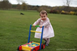 Kensington Palace released this photo of Princess Charlotte on May 1, 2016.