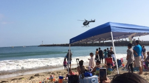 A stretch of Corona del Mar State Beach was evacuated after a woman was possibly bitten by a shark. (Credit: Francis Piolo / Instagram)