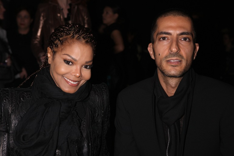 Janet Jackson and Wissam al Mana attend the Sergio Rossi presentation cocktail during Milan Fashion Week Womenswear Fall/Winter 2013/14 on Feb. 21, 2013, in Milan, Italy. (Credit: Vincenzo Lombardo/Getty Images for Sergio Rossi)