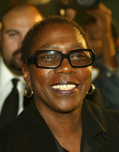 Producer Afeni Shakur attends the film premiere of 'Tupac Resurrection' at the Cinerama Dome Theater on November 4, 2003 in Hollywood. (Credit: Kevin Winter/Getty Images)
