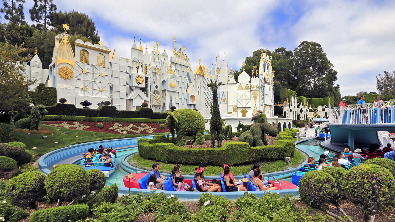 Guests take a relaxing ride through It's a Small World at Disneyland. (Credit: Allen J. Schaben/Los Angeles Times)