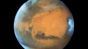 The Hubble Telescope took this image of Mars. (Credit: NASA)