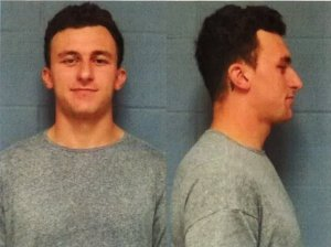 Free agent NFL quarterback Johnny Manziel is seen in booking photos released on May 4, 2016. (Credit: Highland Park Department of Public Safety)