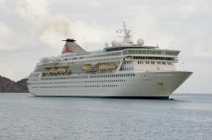 The CDC said 252 of 919 passengers -- 27% -- have gotten sick on the Balmoral, a ship operated by Fred Olsen Cruises and most recently docked in Maine. Credit: (Credit: Fred Olsen Cruises)