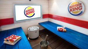 A Burger King in Helsinki, Finland has opened an in-store spa with sauna. (Credit: Restel/Facebook)