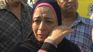 EgyptAir Flight 804 vanished from radar on its way from Paris to Cairo with 66 people aboard, the airline said Thursday. Pictured are victim families in Cairo, Egypt. (Credit: CNN)