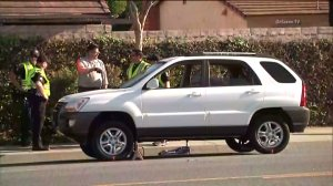 Police investigate a crash that killed 9-year-old Angel Zevallos in Simi Valley on May 26, 2016. (Credit: OnScene.TV)