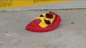 A mask left behind at the scene of a would-be armed robbery at a jewelry store in Walnut on May 9, 2016. (Credit: KTLA)