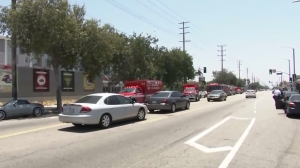 Multiple LAFD units responded to Fremont High School in South L.A. on June 2, 2016. (Credit: KTLA)