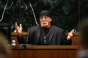 Terry Bollea, aka Hulk Hogan, testifies in court during his trial against Gawker Media at the Pinellas County Courthouse on March 8, 2016, in St Petersburg, Florida.  (Credit: John Pendygraft-Pool/Getty Images)