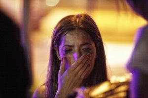 A relative of the Ataturk Airport suicide bomb attack victim waits outside Bakirkoy Sadi Konuk Hospital as she cries, in the early hours of June 29, 2016 in Istanbul, Turkey. (Credit: Defne Karadeniz/Getty Images)