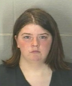 Jessica McCain appears in an undated booking photo provided by the Tippecanoe County Sheriff's Office.