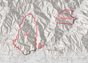 The San Gabriel Complex fires' perimeters are shown in a map released by incident command on June 22, 2016.