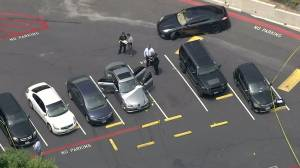 The man's body was found in the backseat of a silver Mercedes-Benz on June 9, 2016. (Credit: KTLA)