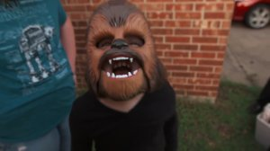 Kohl's awarded Candace Payne and her family with more Chewbacca masks and gift cards to show their appreciation of her viral video. (Credit: Kohls/Facebook)
