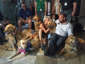 Twelve comfort dogs have headed to Orlando to comfort survivors and those grieving. (Credit: K-9 Comfort Dogs)
