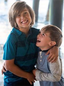 Xander Hendriks is pictured with one of his younger brothers in a photo provided by the family on June 9, 2016.