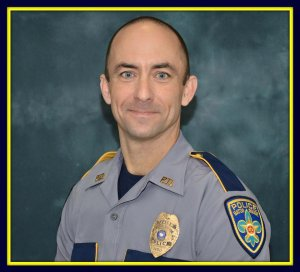 Officer Matthew Gerald, 41, is seen in a photo provided by the Baton Rouge Police Department.