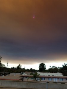 KTLA viewer Joel Connor sent in this photo of smoke from the Sand Fire over Toluca Lake on July 23, 2016.