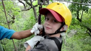A family photo shows Andrew Rindone on a zip line during a family vacation in Costa Rica.