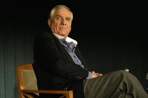 """Director Garry Marshall speaks at """"Marshall Magic: A Tribute"""" at UA Battery Park Stadium May 2, 2004 in New York City. (Credit: Frank Micelotta/Getty Images)"""