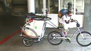 Huntington Beach police released this surveillance photo on July 7, 2016, of a man suspected of stealing bikes from a condo complex parking structure.