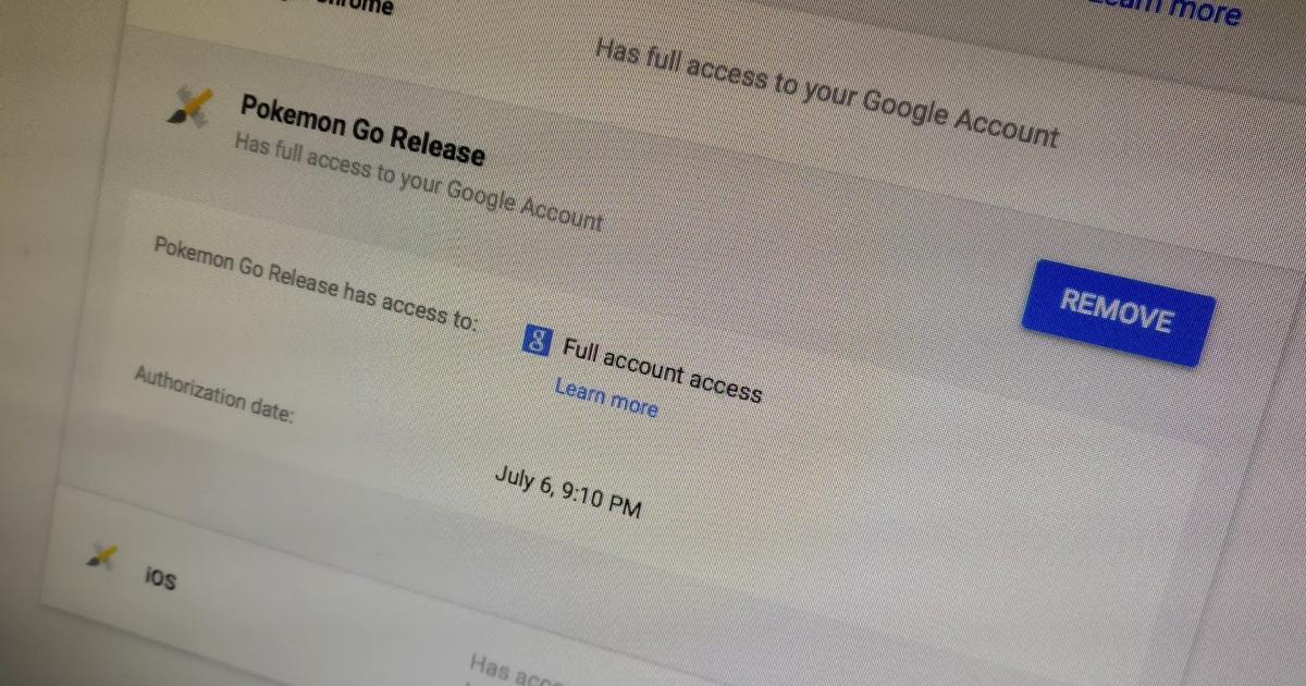 fix pokemon go iphone google account permissions