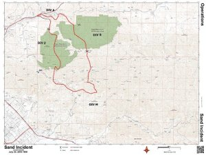 A map from the U.S. Forest Service shows the fire perimeter as of 6:09 p.m. July 23, 2016.