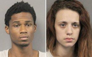Police arrested Gabrielle Whittington and Onterio Thompson, both 21, of St. Tammany Parish in Louisiana. (Jefferson Parish Sheriff's Office)
