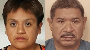 Esperanza Mani-Cortez, left, and Alfredo Rosales, right, are seen in photos released by the Bergen County Prosecutor's Office.