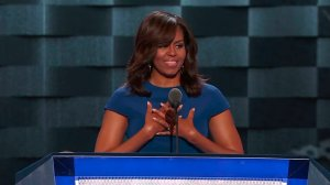 Michelle Obama speaks at the Democratic National Convention in Philadelphia on July 25, 2016. (Credit: CNN)