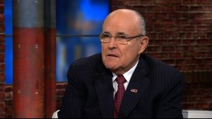 Former New York City Mayor Rudy Giuliani endorsed Republican front-runner Donald Trump on April 19, 2016, the day of the New York primary. (Credit: CNN)