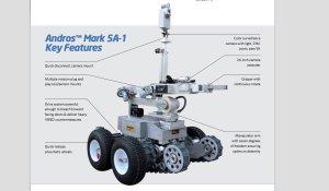 A Northrop Grumman Remotec brochure details the robot's capabilities. (Credit: From Northrop Grumman Remotec)