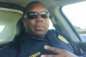 Baton Rouge Police Department Officer Montrell Jackson was killed during a firefight in Baton Rouge, Louisiana, on July 17, 2016. He is seen here in a Facebook photo.