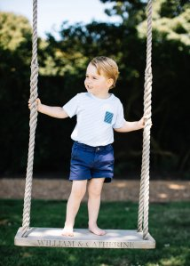 Prince George, Britain's future king, is celebrating his third birthday Friday -- and new series of adorable photos of the young royal have been released by Kensington Palace to mark the occasion. (Credit: Matt Porteous/Kensington Palace)