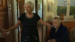Jan Sanborn and her husband Loren lost everything in the Sand Fire on July 25, 2016. (Credit: KTLA)