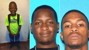 Travon Williams, left, Travon Lamar Williams, center, and Samathy Mahan, right, are seen in a photos released by the San Bernardino Police Department.