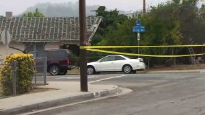Authorities were investigating a shooting in Altadena on July 5, 2016. (Credit: KTLA)