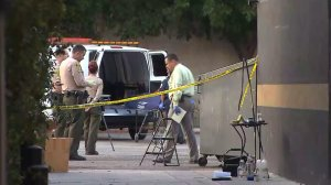 Authorities removed a woman's body that was discovered in a trash dumpster in West Hollywood on July 6, 2016. (Credit: KTLA)