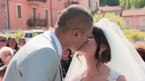 Ramon and Martina Adazzi were married on Aug. 28, 2016 in  Acquasanta Terme, near the epicenter of a devastating earthquake in central Italy (Credit: Atika Shubert/CNN)