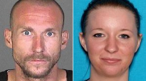 Joshua Robertson and Brittany Humphrey are shown in photos from a LASD wanted poster distributed Aug. 23, 2016.