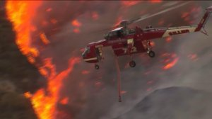 About 18,000 acres have burned in the Blue Cut Fire in the Cajon Pass on Aug. 16, 2016. (Credit: KTLA)