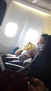 Haven's mom went into labor more than five weeks early while flying on an aircraft operated by Philippines carrier Cebu Pacific on August 14. (Credit: Missy Berberabe Umandal via Facebook)