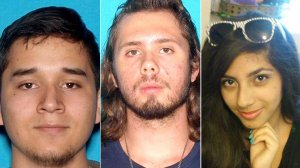 Daniel Gamboa, 19, Kasey Vance, 18, and Samantha Ornelas, 17, are seen in photos released by the Fontana Police Department on Aug. 1, 2016.