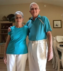 Ed and Fran Garguila have been married for 52 years, and they are known for their coordinating outfits. (Credit: Anthony Garguila)