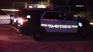 Two people died and two others were injured following an assault with a deadly weapon report in Mead Valley on Aug. 5, 2016. (Credit: OnScene.TV)