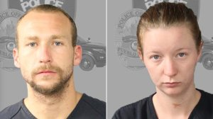 Joshua Robertson and Brittany Humphrey are shown in photos released by the Pueblo Police Department after their arrest Aug. 25, 2016.