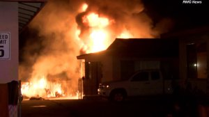 A series of fires broke out in Rosemead Tuesday morning. (Credit: RMG News)