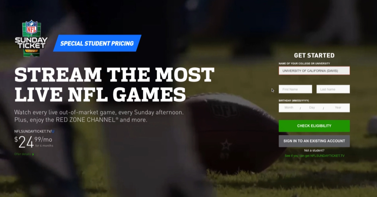 Stream NFL Sunday Ticket without a satellite dish