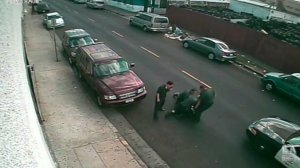 A still image from the video obtained by the Los Angeles Times that shows the violent arrest in 2014.